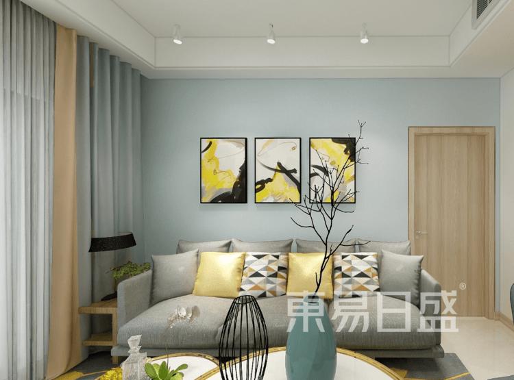 奥体城畅园-美式客厅装修效果图