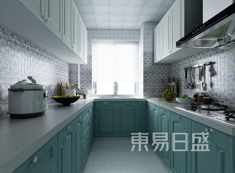 环秀湖花园现代简约120㎡厨房装修效果图
