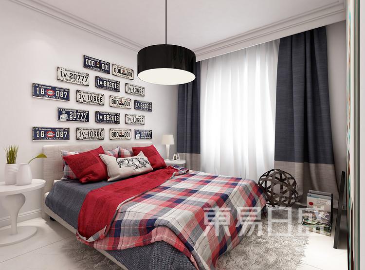 环秀湖花园现代简约120㎡卧室装修效果图