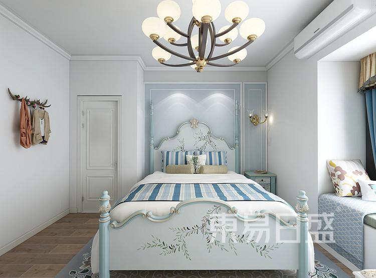 领贤公馆美式田园风格卧室装修效果图