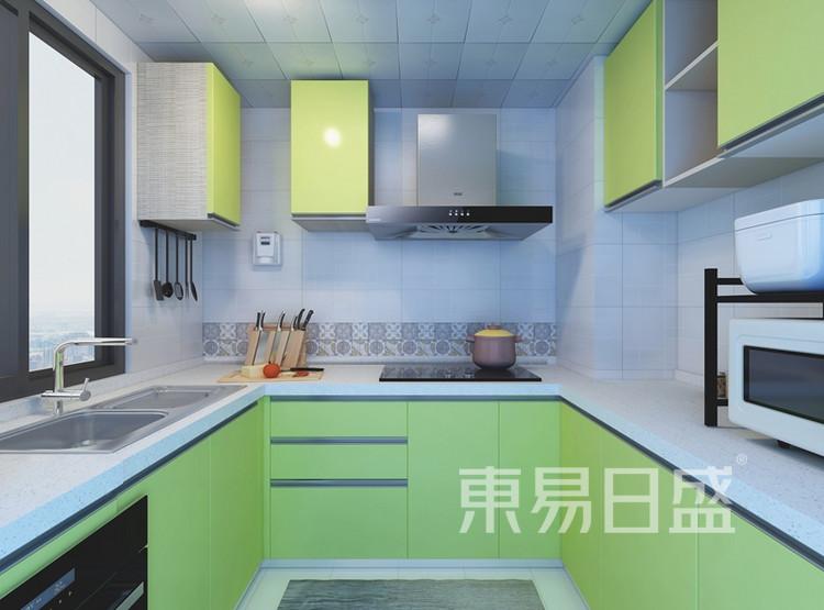 信保春风十里115平米:简约美式风格厨房
