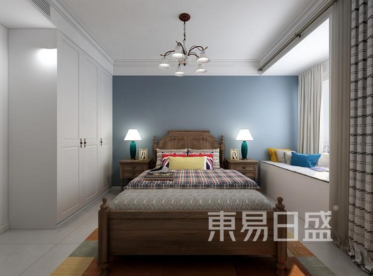 信保春风十里115平米装修案例:简约美式风格卧室