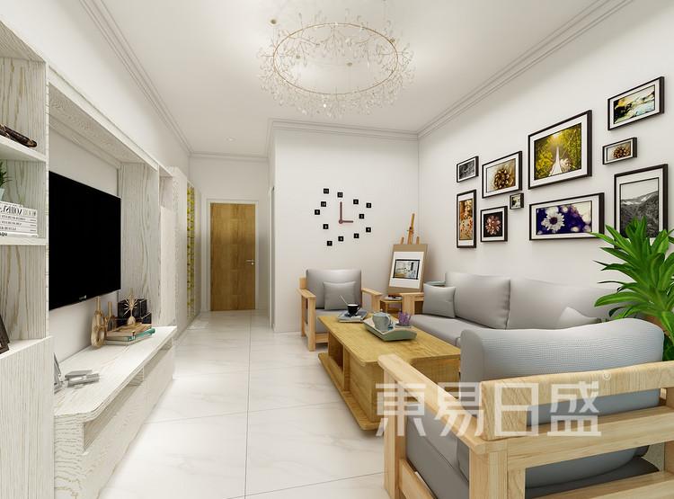 中吴红玺御园现代简约87㎡客厅装修效果图