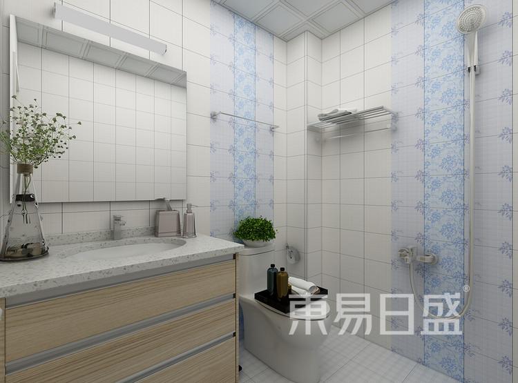 中吴红玺御园现代简约87㎡卫生间装修效果图