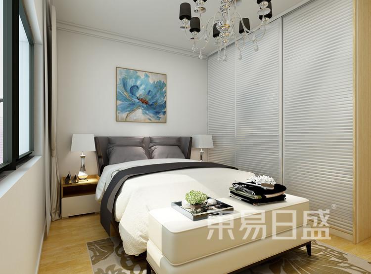中吴红玺御园现代简约87㎡卧室装修效果图
