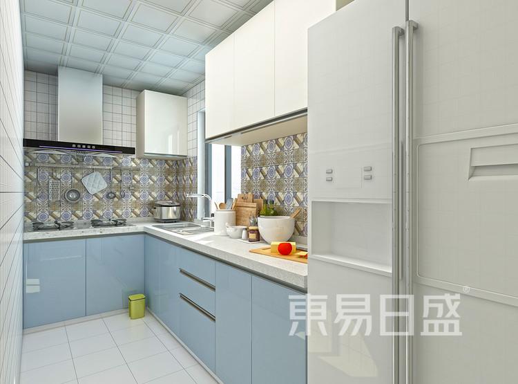 环秀湖花园现代简约106㎡厨房装修效果图