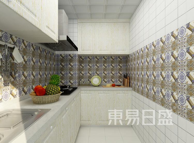 太湖汇景现代简约93㎡厨房装修效果图