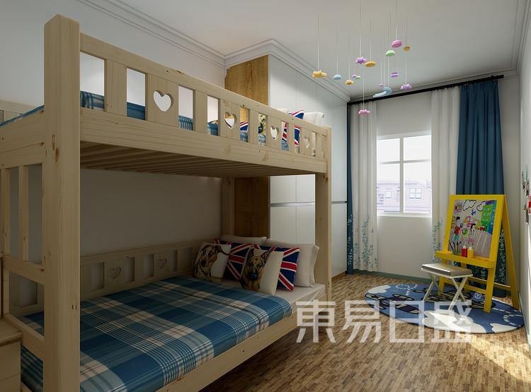 太湖汇景现代简约93㎡儿童房装修效果图