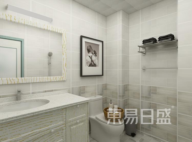 太湖汇景现代简约93㎡卫生间装修效果图