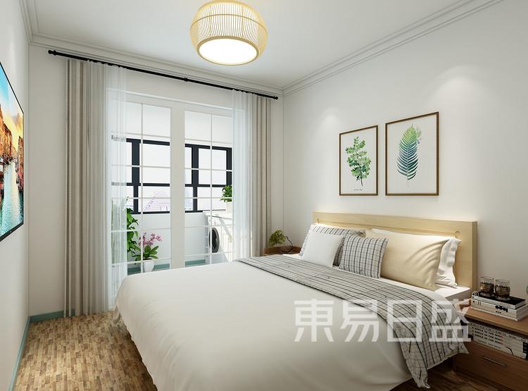 太湖汇景现代简约93㎡卧室装修效果图