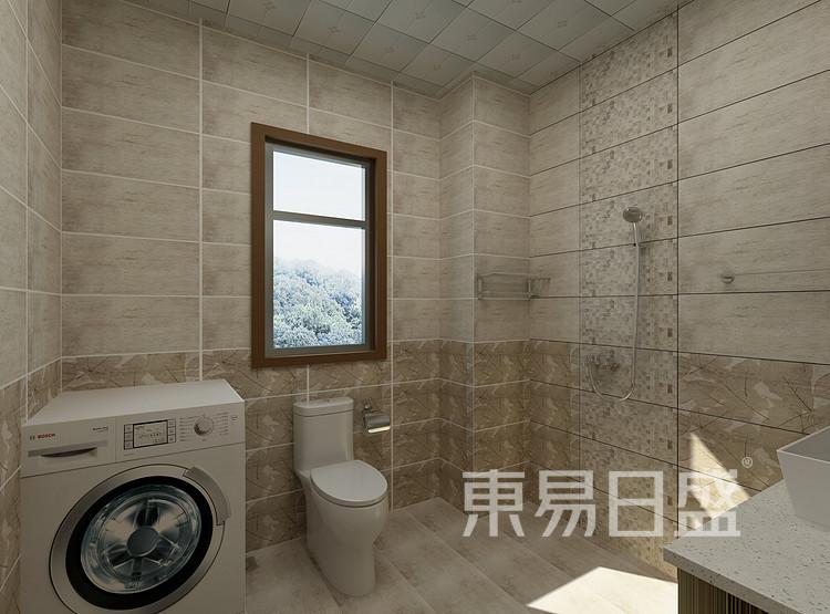 恒基水样花城现代简约83㎡卫生间装修效果图