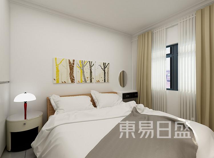 恒基水样花城现代简约83㎡卧室装修效果图