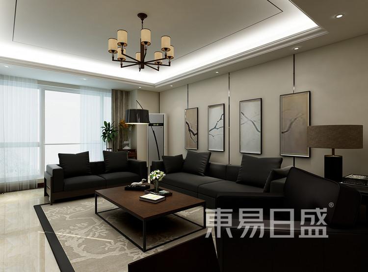 新中式风格装修效果图-客厅