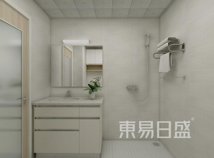 恒基旭辉城现代简约79㎡卫生间装修效果图