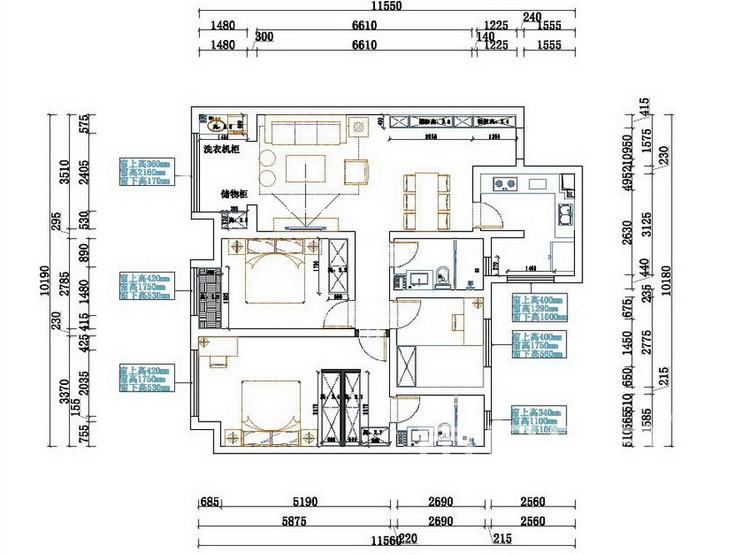 金科天籁城  简美风格风格 户型平面图