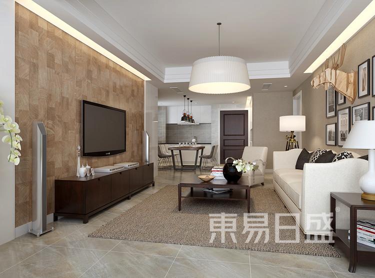 九润公寓-现代简约风格-客厅效果图
