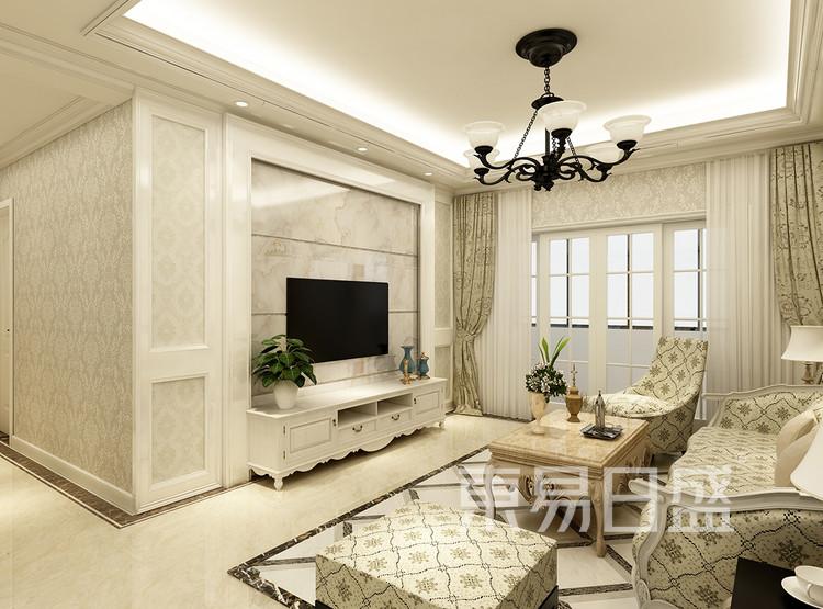 欧式风格装修效果图-客厅