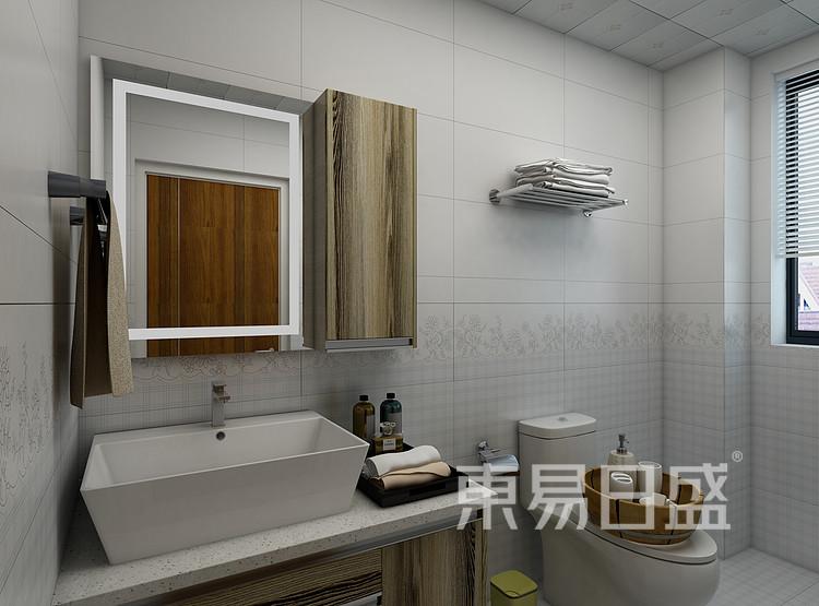 阳光城丽景湾现代简约118㎡卫生间装修效果图