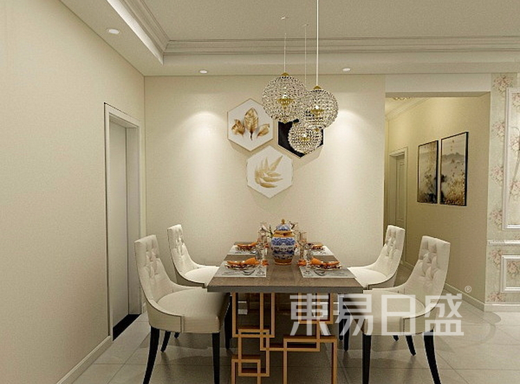 金科天籁城  简美风格效果图  130 餐厅