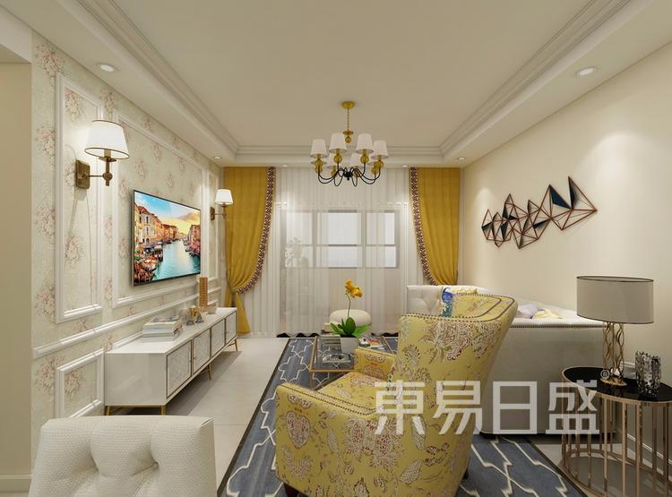 金科天籁城  简美风格效果图  130 客厅