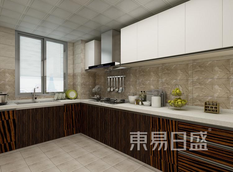 阳光城丽景湾现代简约118㎡厨房装修效果图