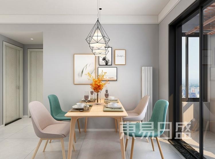 信保春风十里101平米装修案例:现代简约风格餐厅