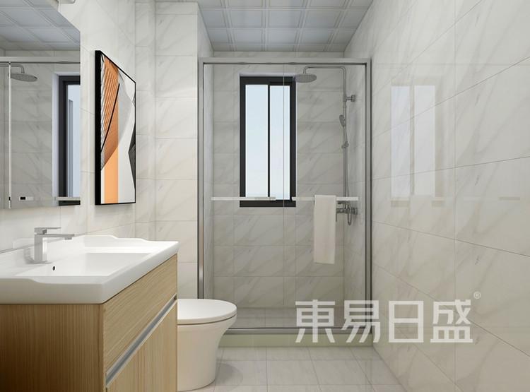信保春风十里101平米装修案例:现代简约风格卫生间