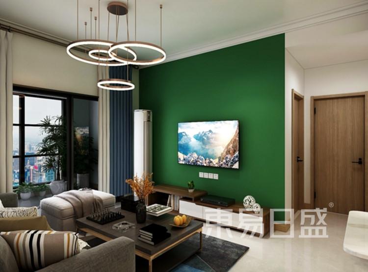 信保春风十里101平米装修案例:现代简约风格客厅