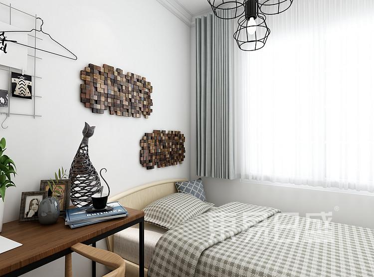阳光国际-新中式风格-卧室效果图