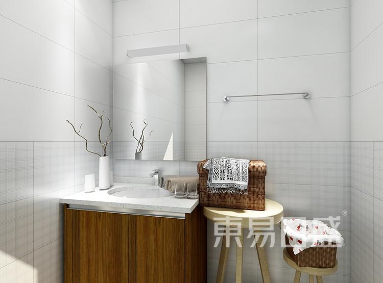 阳光国际-新中式风格-卫生间效果图