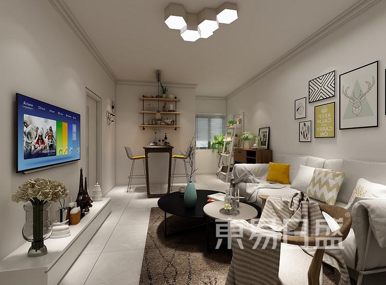 方正御星-新古典风格-客厅室效果图