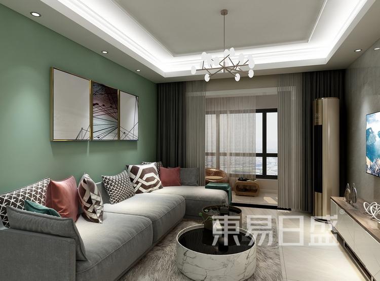 西派国际  现代简约风格效果图  102 客厅