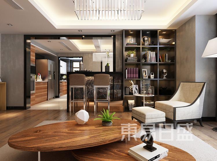 鲁商首府设计案例-客厅装修效果图