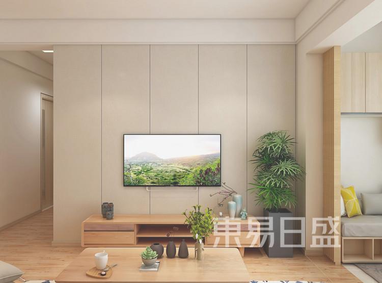 金科城-日式风格客厅电视背景墙