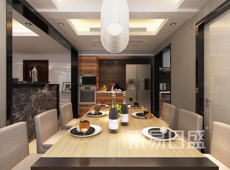 鲁商首府设计案例-餐厅装修效果图