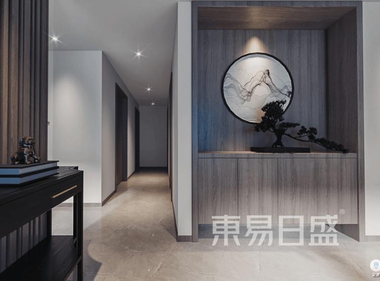 星尚悦湖-新中式风-玄关