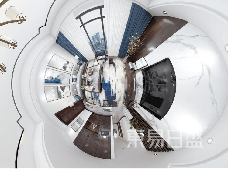星尚悦湖-新中式风-客厅