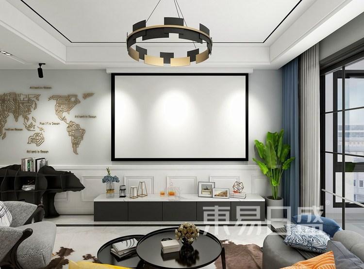 118㎡-简美风格-客厅