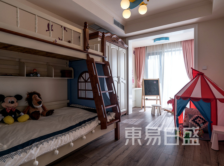 建发天府鹭洲-140㎡-现代美式-儿童房