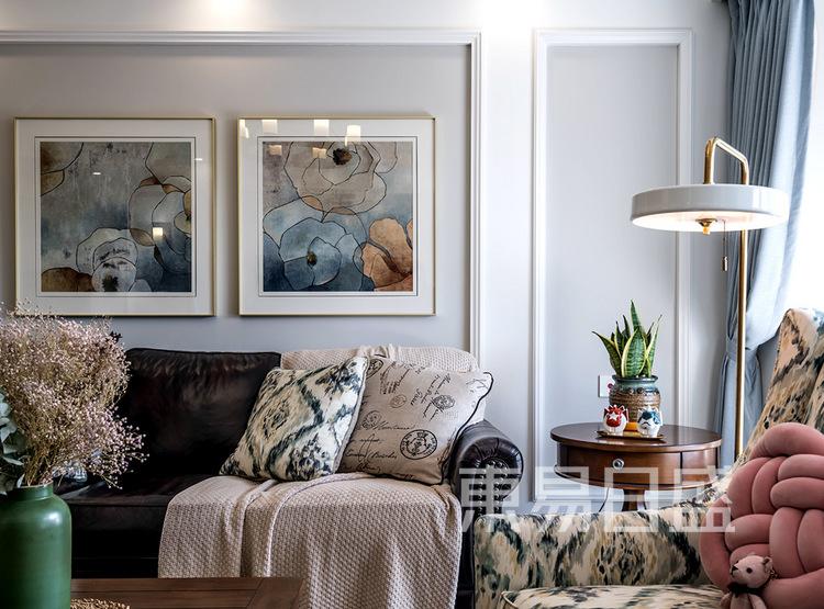 建发天府鹭洲-140㎡-现代美式-客厅