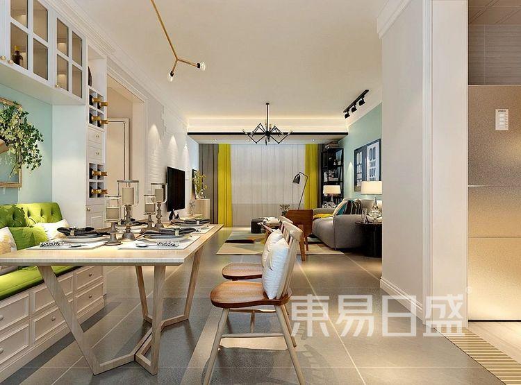 重庆金辉中央名著96㎡北欧风格——餐厅效果图