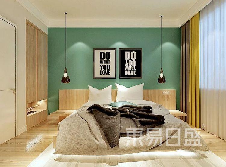 重庆金辉中央名著96㎡北欧风格——卧室效果图