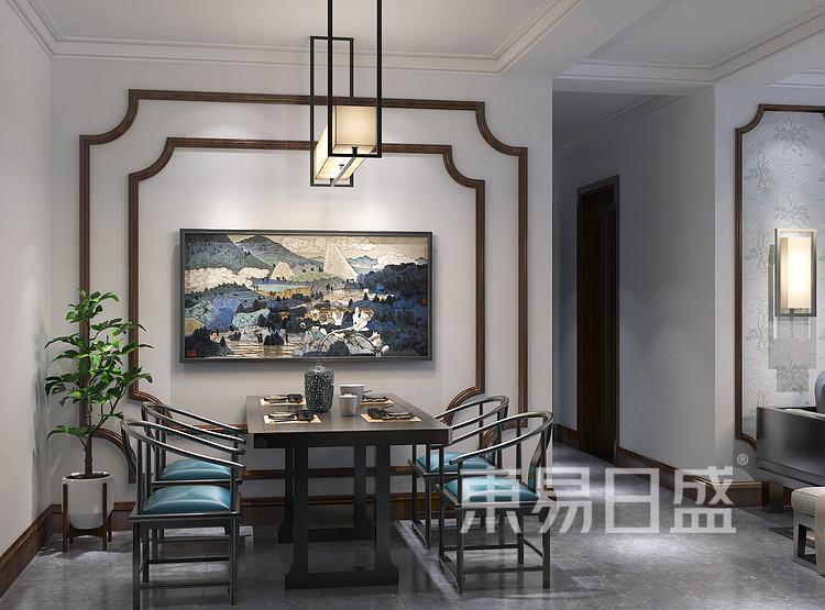 九龙仓繁华里新中式105㎡餐厅装修效果图
