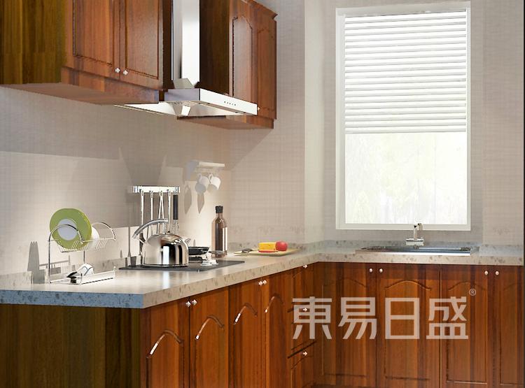 九龙仓繁华里新中式105㎡厨房装修效果图