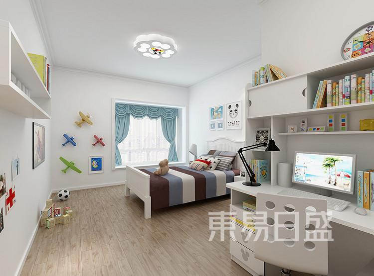九龙仓年华里现代简约118㎡卧室装修效果图