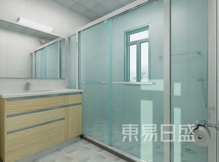九龙仓年华里现代简约118㎡卫生间装修效果图
