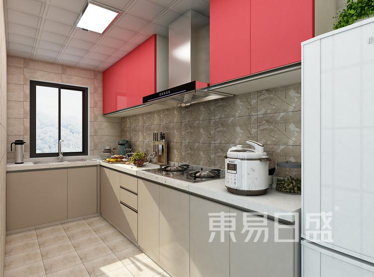 建发中泱天成现代简约99㎡厨房装修效果图