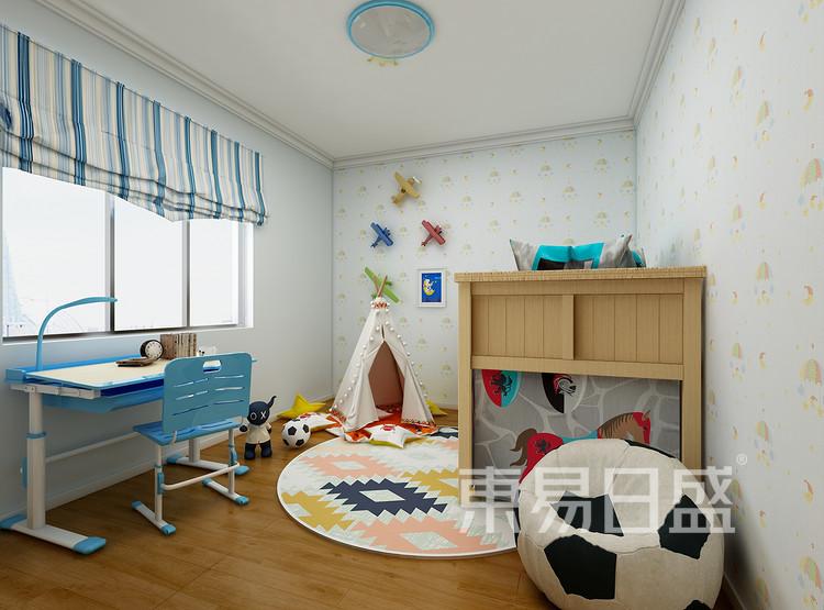 建发中泱天成现代简约99㎡儿童房装修效果图