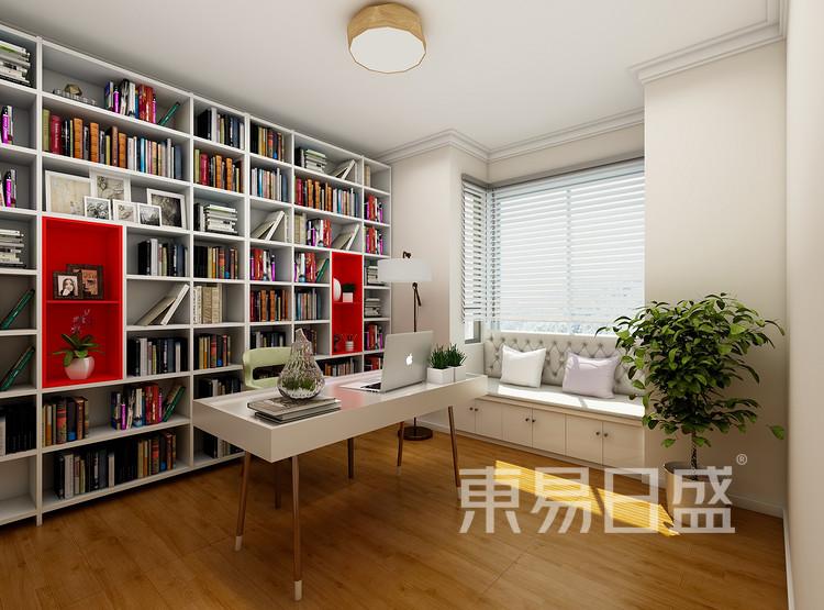 建发中泱天成现代简约99㎡书房装修效果图