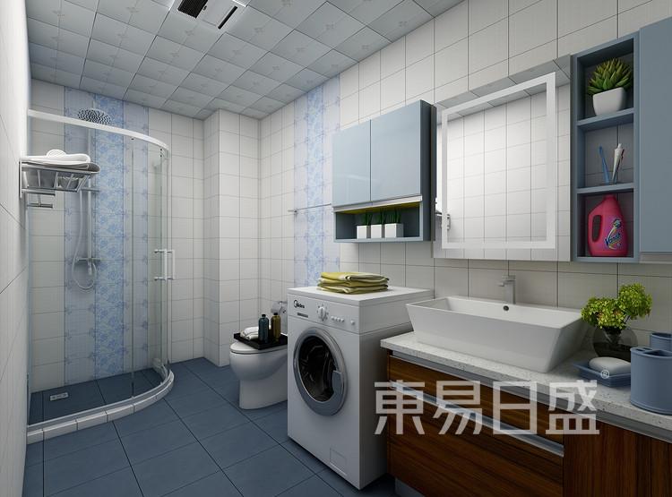 建发中泱天成现代简约99㎡卫生间装修效果图